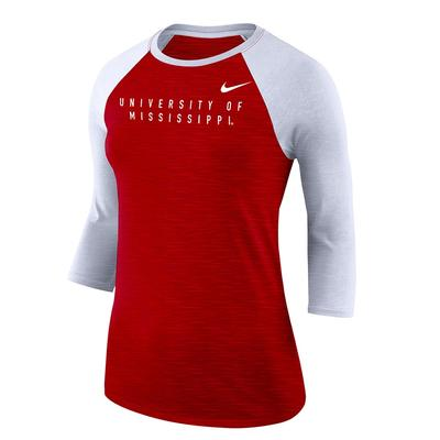 NIKE U OF M KNIT TEE RED
