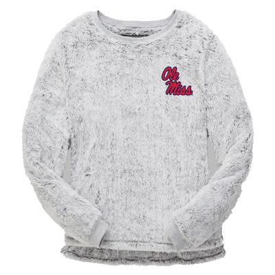 OLE MISS FUZZY FLEECE CREW