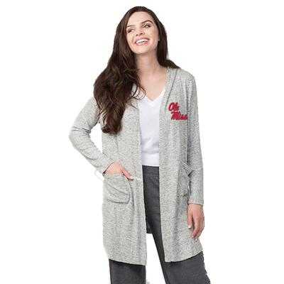 LADIES CUDDLE CARDIGAN OXFORD_HEATHER