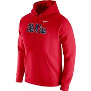 NIKE OLE MISS CLUB FLEECE HOODIE