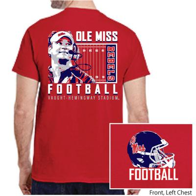 OLE MISS FOOTBALL KIFFIN SS TEE RED