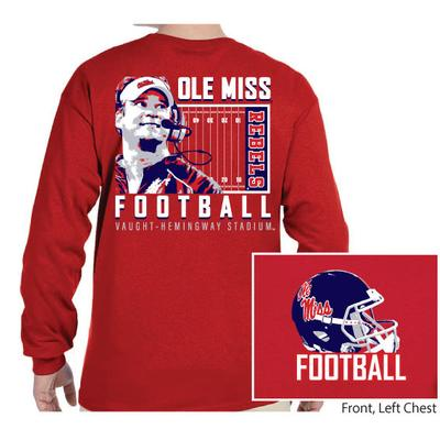 OLE MISS FOOTBALL KIFFIN LS TEE
