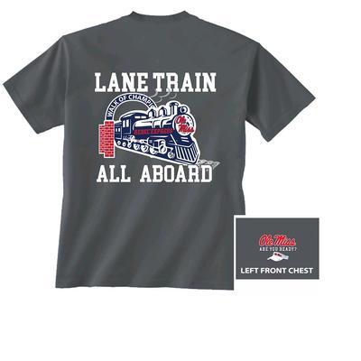 SS LANE TRAIN TEE CHARCOAL