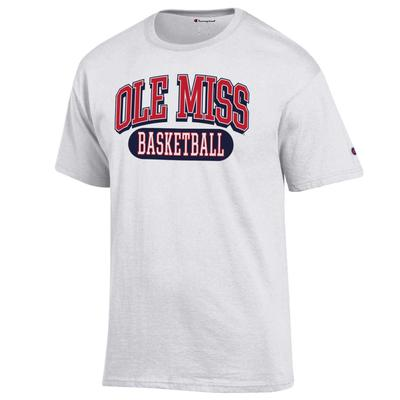OLE MISS BASKETBALL SS TEE WHITE