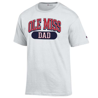 OLE MISS DAD SS TEE WHITE