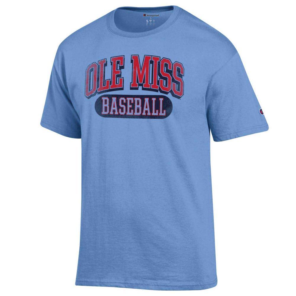Distressed Ole Miss Baseball Ss Tee