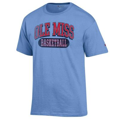 DISSTRESSED OLE MISS BASKETBALL SS TEE