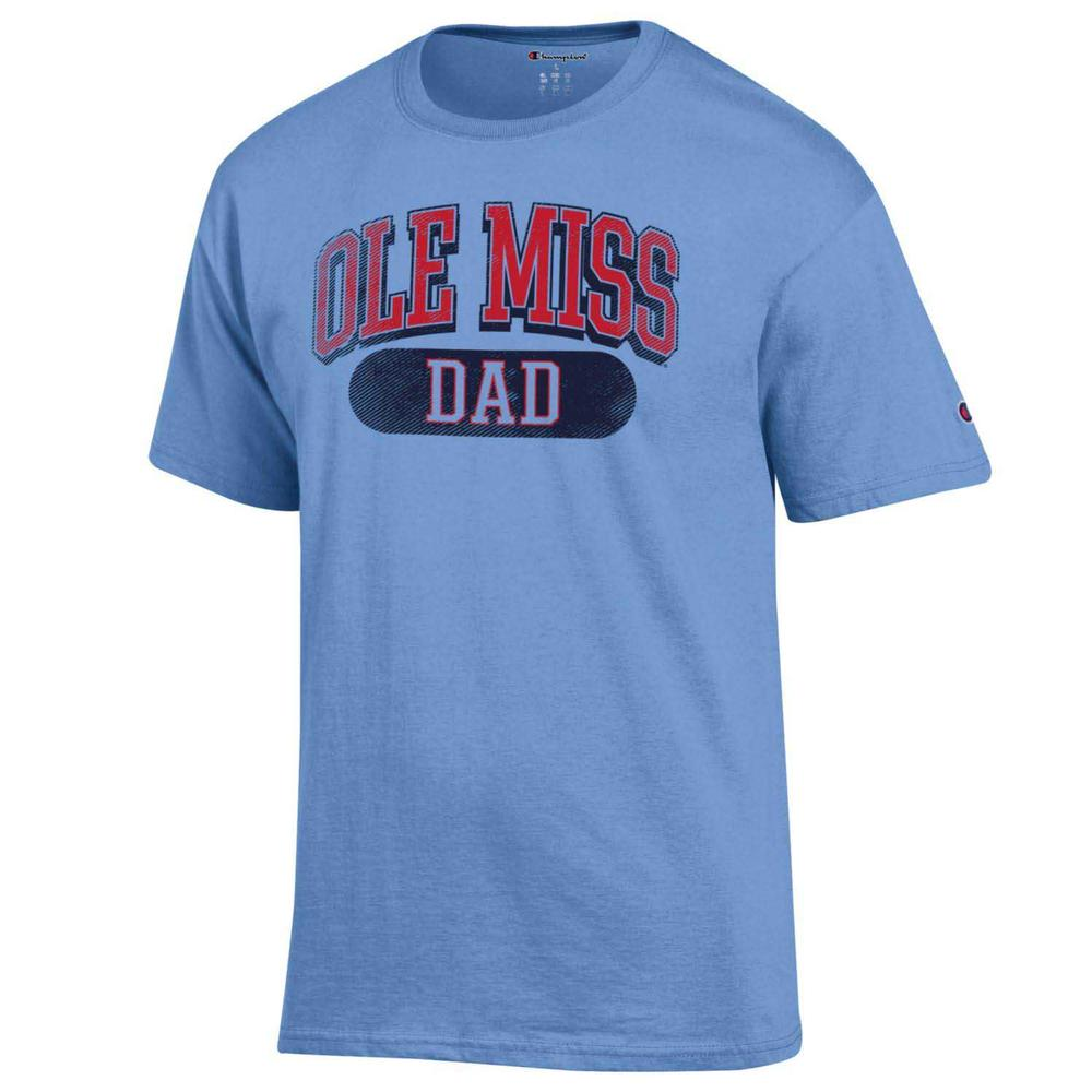 Distressed Ole Miss Dad Ss Tee