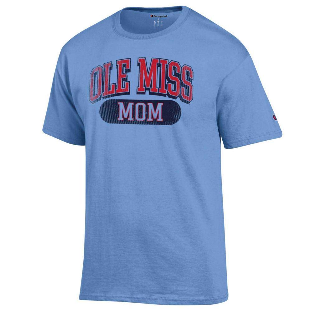 Distressed Ole Miss Mom Ss Tee