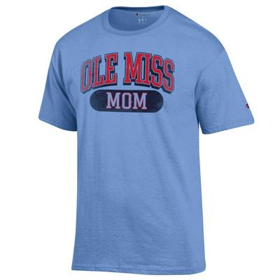 DISTRESSED OLE MISS MOM SS TEE