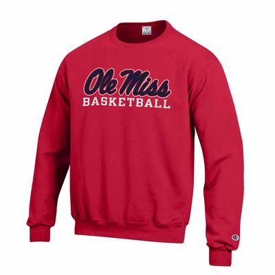 OLE MISS BASKETBALL FLEECE CREW