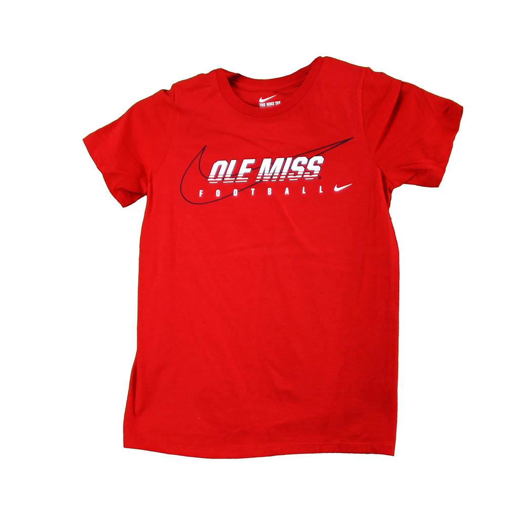Yth Ole Miss Football Tee