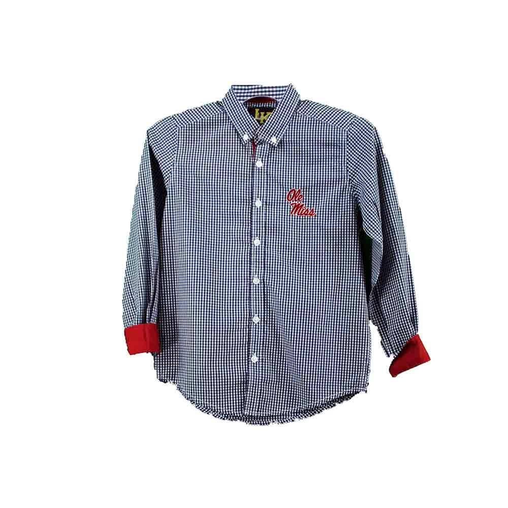 Checkered Woven Button Down Shirt