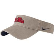 OLE MISS WASHED VISOR
