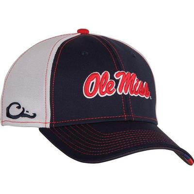 OLE MISS STRETCH TO FIT CAP NAVY