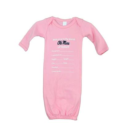 OM LAYETTE GOWN PINK