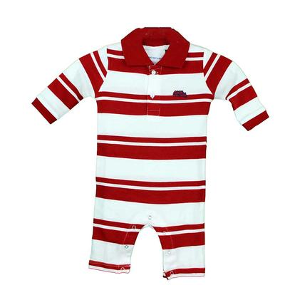 OM RUGBY LONG LEG ROMPER RED
