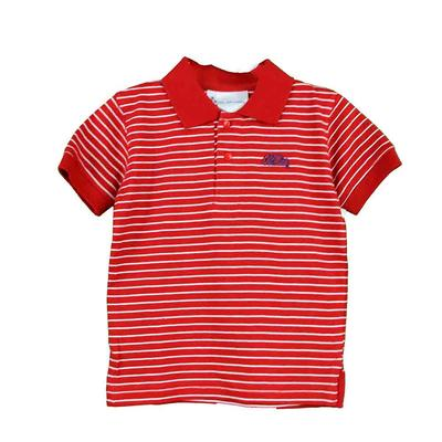 OM SS STRIPE GOLF SHIRT