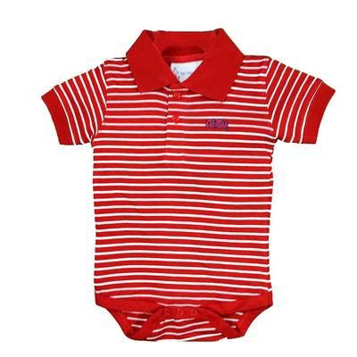OM SS STRIPE GOLF CREEPER RED