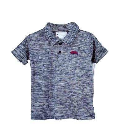 TODDLER SPACEDYE GOLF SHIRT NAVY
