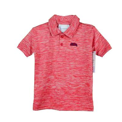 TODDLER SPACEDYE GOLF SHIRT RED