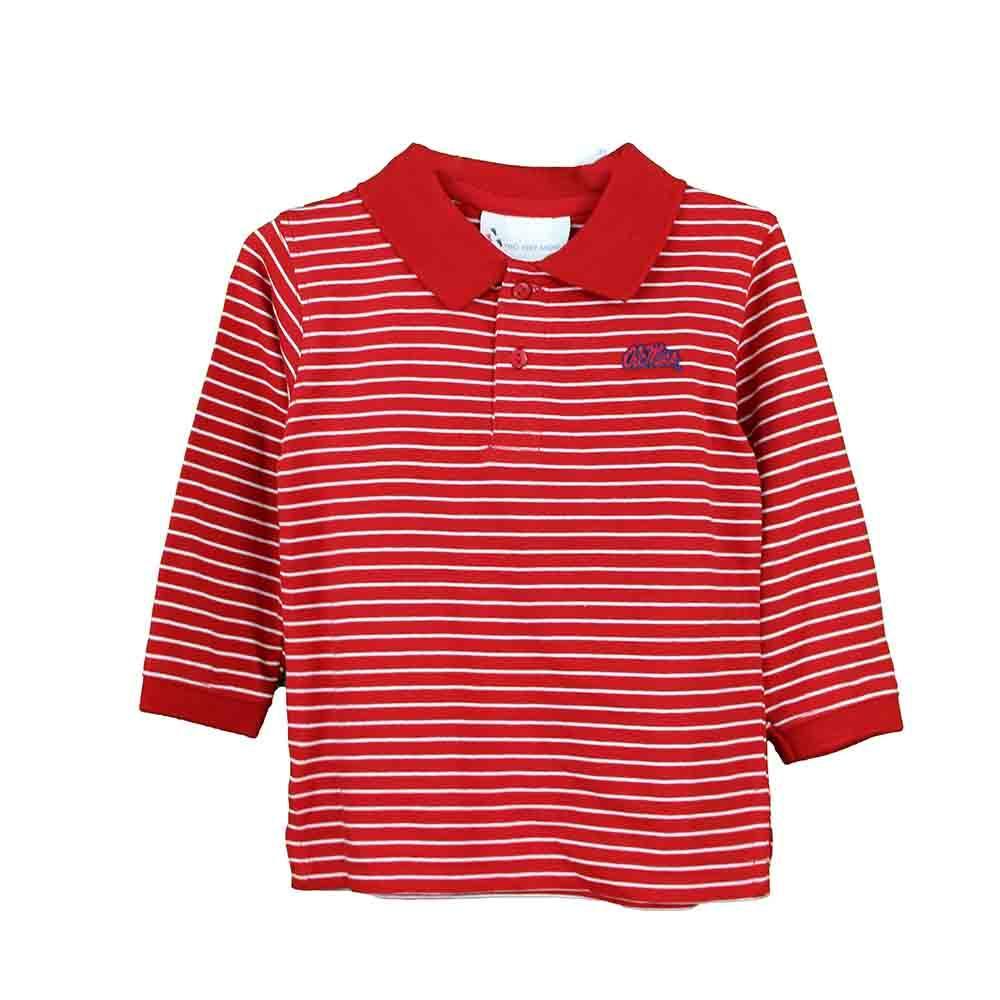 Om Ls Stripe Golf Shirt