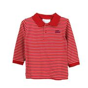 OM LS STRIPE GOLF SHIRT