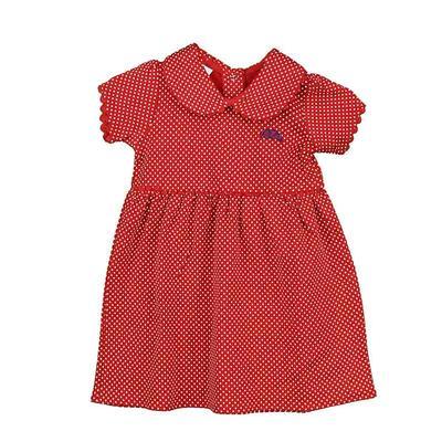GIRLS PETER PAN DRESS RED
