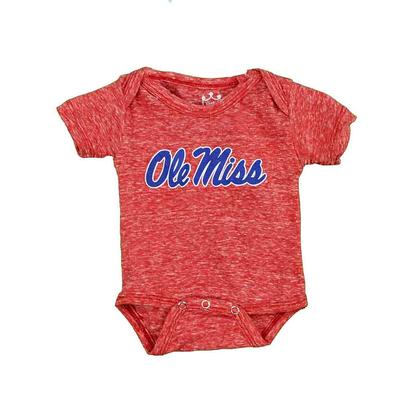OLE MISS KNOBBY ONESIE RED