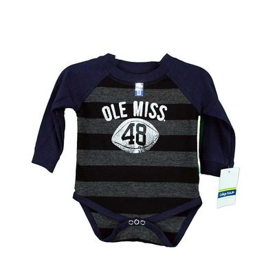 STRIPED RAGLAN ONESIE