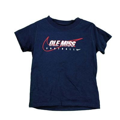 TODDLER OLE MISS FOOTBALL TEE