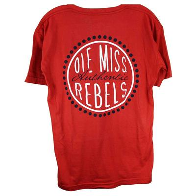 OM CURLY SUE OVERSIZED VTEE RED