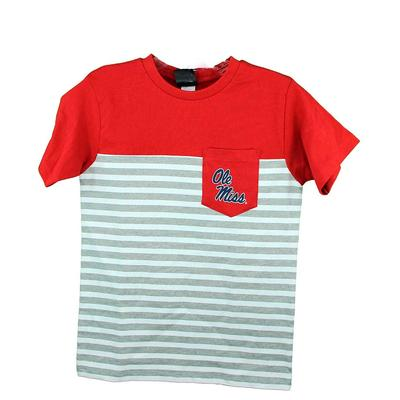 OM YOUTH STRIPE POCKET TEE