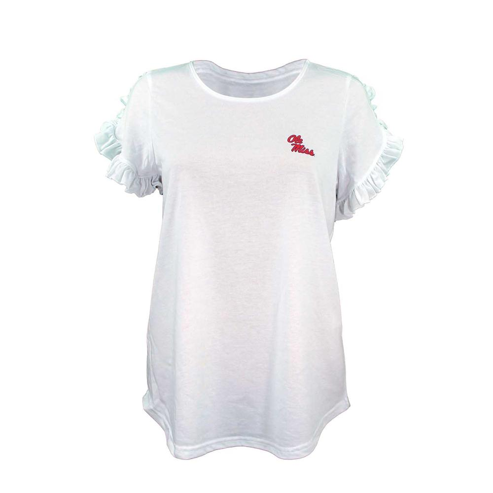 Girls Ruffle Sleeve Tee
