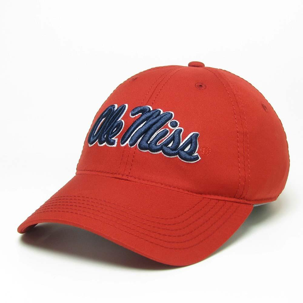 Red Ole Miss Cool Fit Adjustable Cap