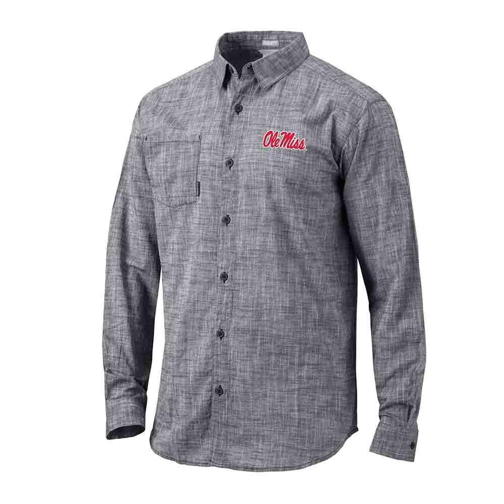 Ole Miss Under Exposure Ls Button Shirt
