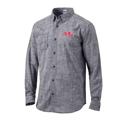 OLE MISS UNDER EXPOSURE LS BUTTON SHIRT