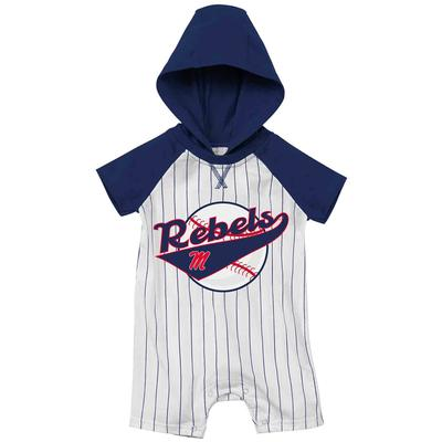 INFANT OLE MISS FLINSTONE HOODED ROMPER
