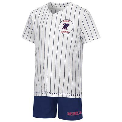 TODDLER BARNEY BASEBALL SET WHITE