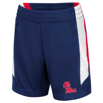 TODDLER OLE MISS RUBBLE SHORTS NAVY