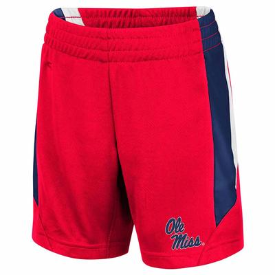 TODDLER OLE MISS RUBBLE SHORTS RED