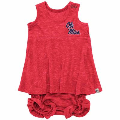INFANT OLE MISS SNORKASAURUS SET RED