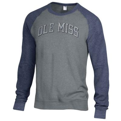 OLE MISS BASEBALL THE CHAMP COLOR BLOCK CREW NAVY