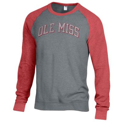 OLE MISS BASEBALL THE CHAMP COLOR BLOCK CREW RED