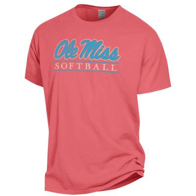 SS COMFORT WASH OM SOFTBALL BAR TEE