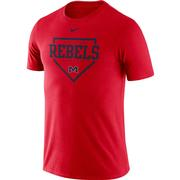 OLE MISS BASEBALL PLATE NIKE DRI-FIT COTTON SS TEE