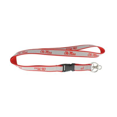 OLE MISS SPARKLE LANYARD RED