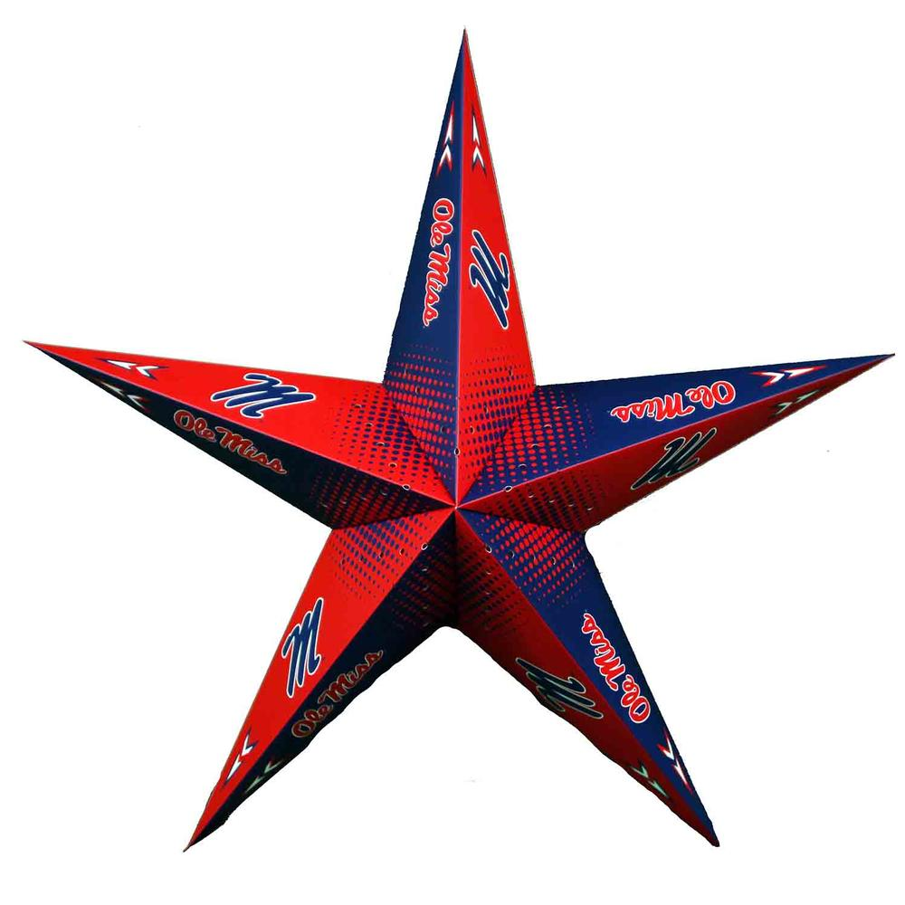 Ole Miss Star Lantern
