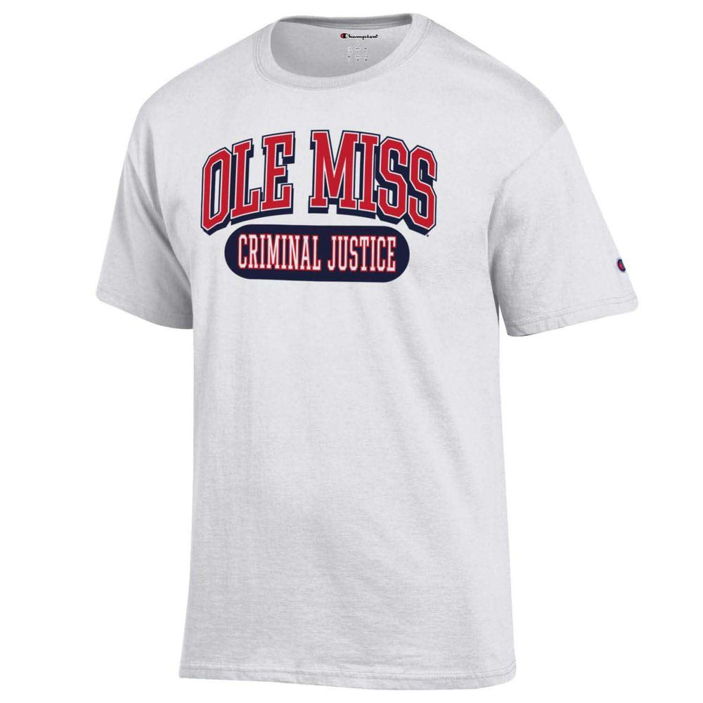 Ole Miss Criminal Justice Ss Tee