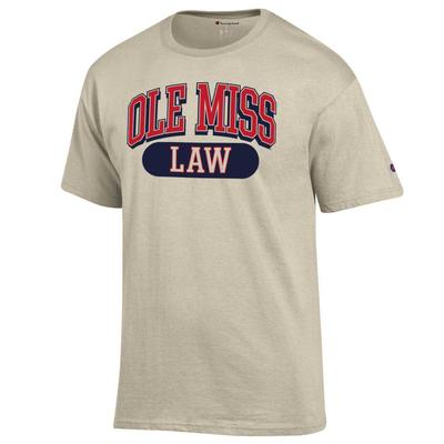 OLE MISS LAW SS TEE OATMEAL